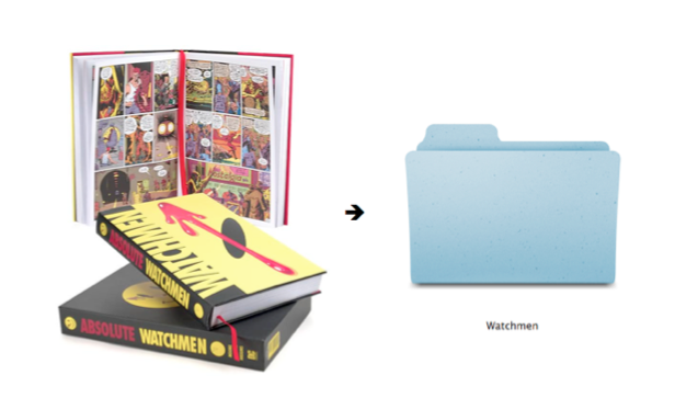 Watchmen - from comic book to graphic novel to folder... Watchmen © DC Comics
